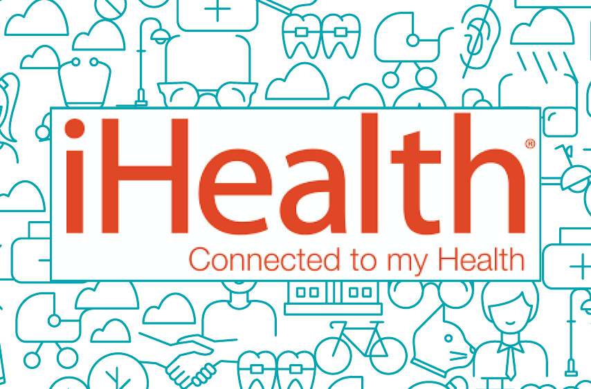 Logo iHealth, connected to my Health